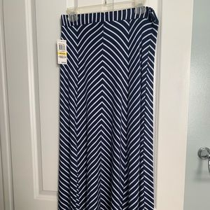Style & Co. chevron striped Maxi skirt BNWT